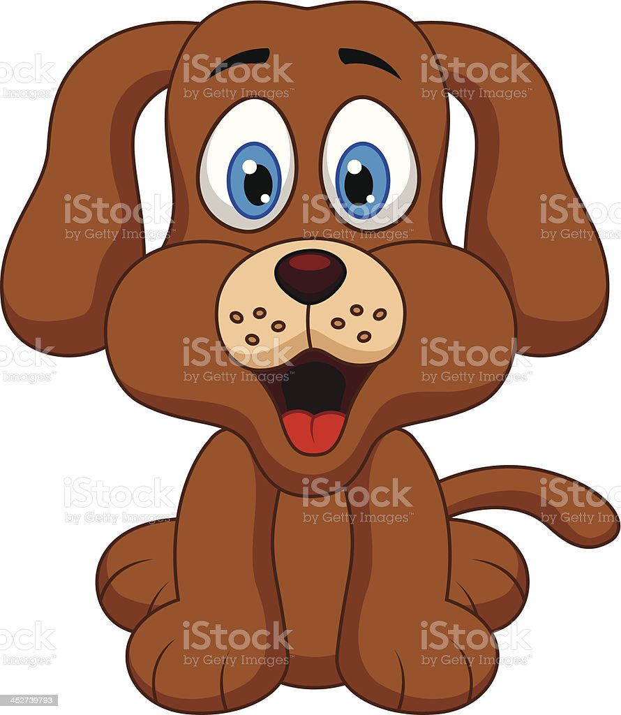Cute dog cartoon royalty-free stock vector art