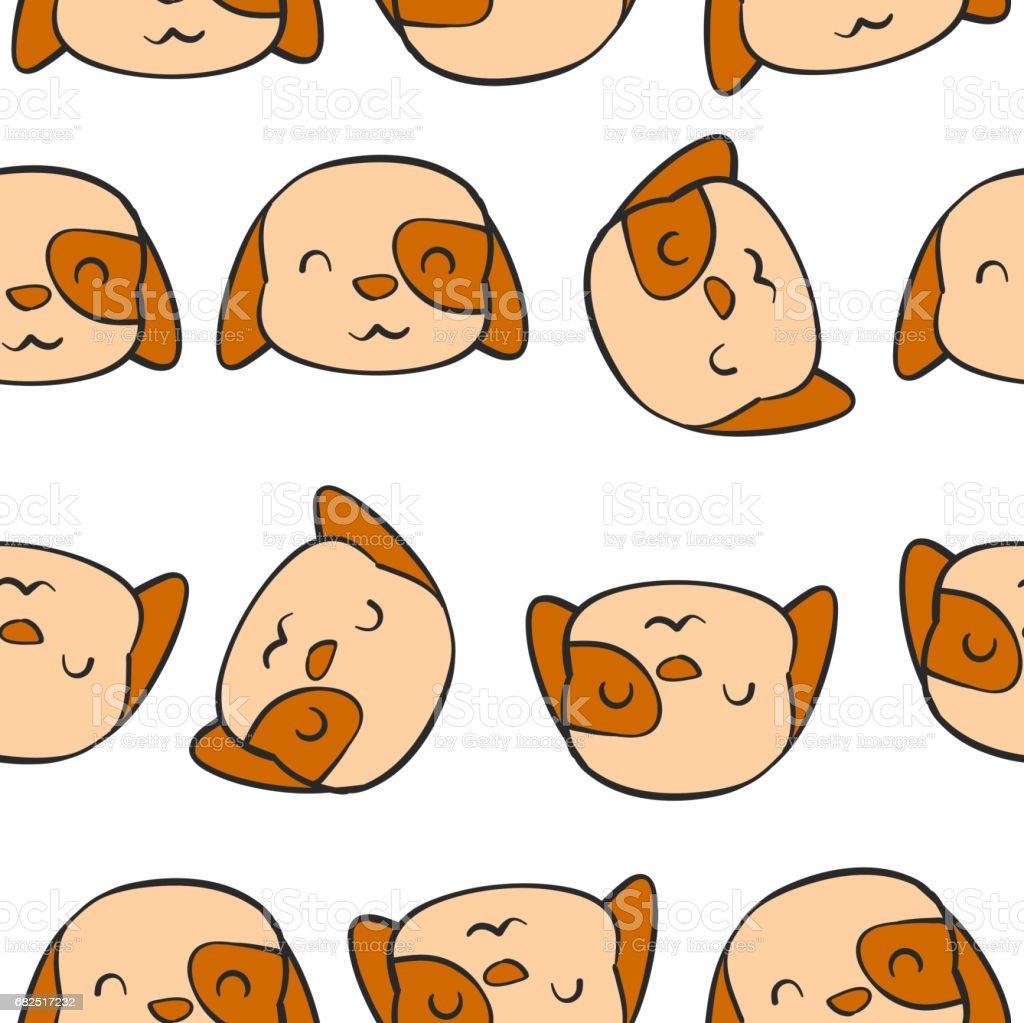Mano perro lindo llamar la ilustración de vector de patrón ilustración de mano perro lindo llamar la ilustración de vector de patrón y más banco de imágenes de animal libre de derechos