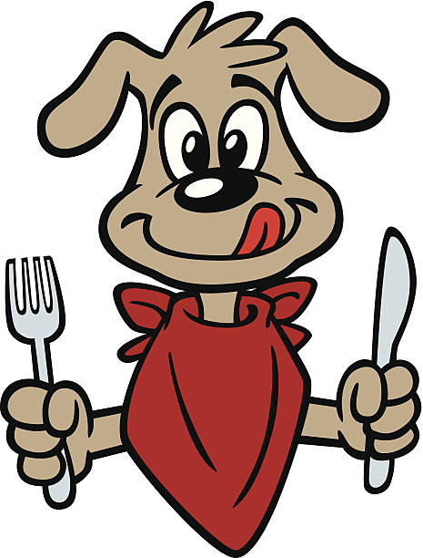Royalty Free Dog Eating Clip Art, Vector Images ...