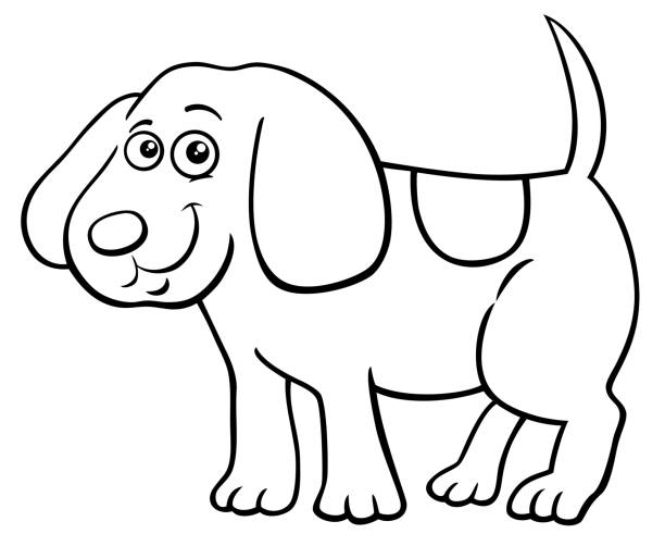 Best Black And White Spotted Dogs Cartoons Illustrations ...