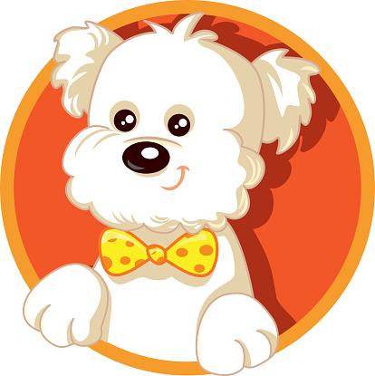 Cute Dog Vector Logo Illustration