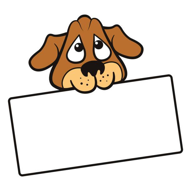 2 356 Dog Holding Sign Illustrations Clip Art Istock