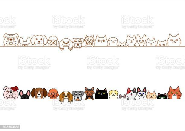 Cute dogs and cats border set vector id698403666?b=1&k=6&m=698403666&s=612x612&h=qx6dk048g07b9mmtpue5ork6shl zhz1uo fzozz6vy=