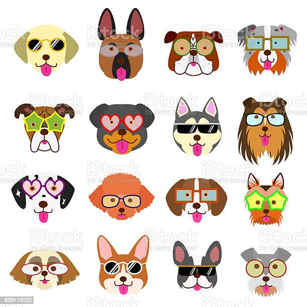 Cute dogs faces with glasses vector id639415252?b=1&k=6&m=639415252&s=612x612&h=2pei0pop6pnw5j6lzmlid5ov arx5zfxczupcmoj390=
