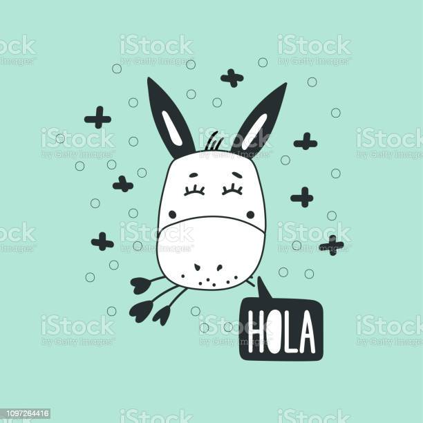 Cute donkey head vector illustration vector id1097264416?b=1&k=6&m=1097264416&s=612x612&h=ab49b4bknqfu26u2zqtbfraggu1jvzbwyeqggb35ojq=