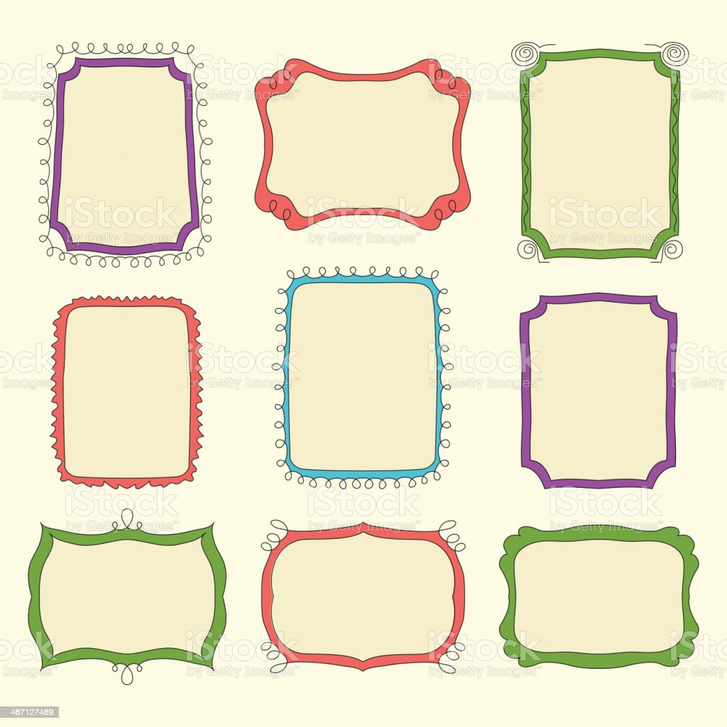 Cute Doodle Frames Stock Vector Art & More Images of Antique ...