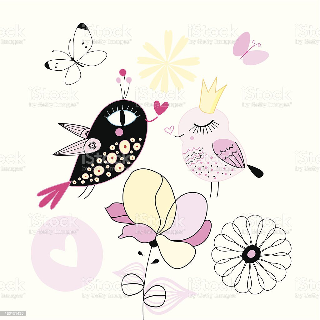 Cute Doodly Birds Stock Illustration - Download Image Now - iStock