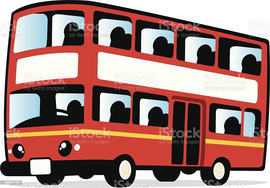 Süße Doppeldeckerbus Bus Stock Vektor Art und mehr Bilder ...