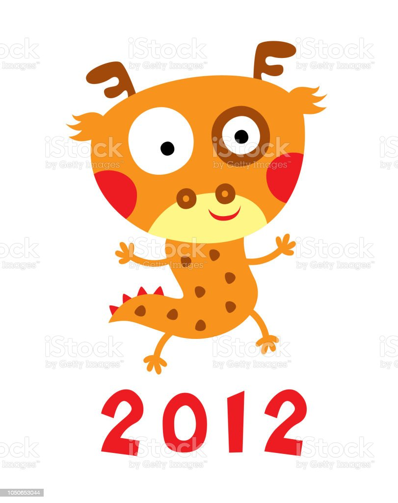 cute dragon chinese new year greeting royalty free cute dragon chinese new year greeting stock