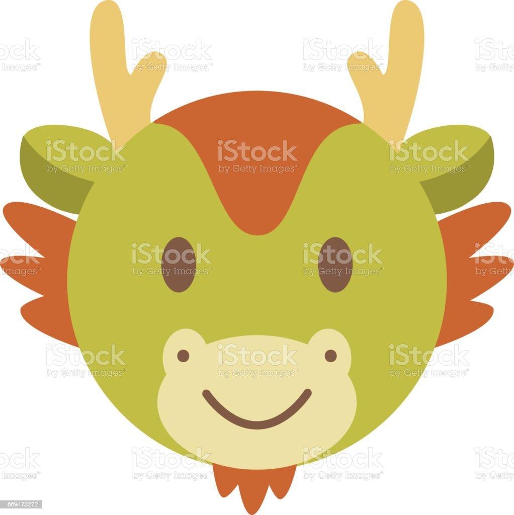 cute dragon face zodiac cartoon stock vector art 669473272 istock