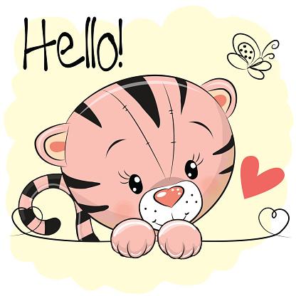 Cute Drawing Tiger