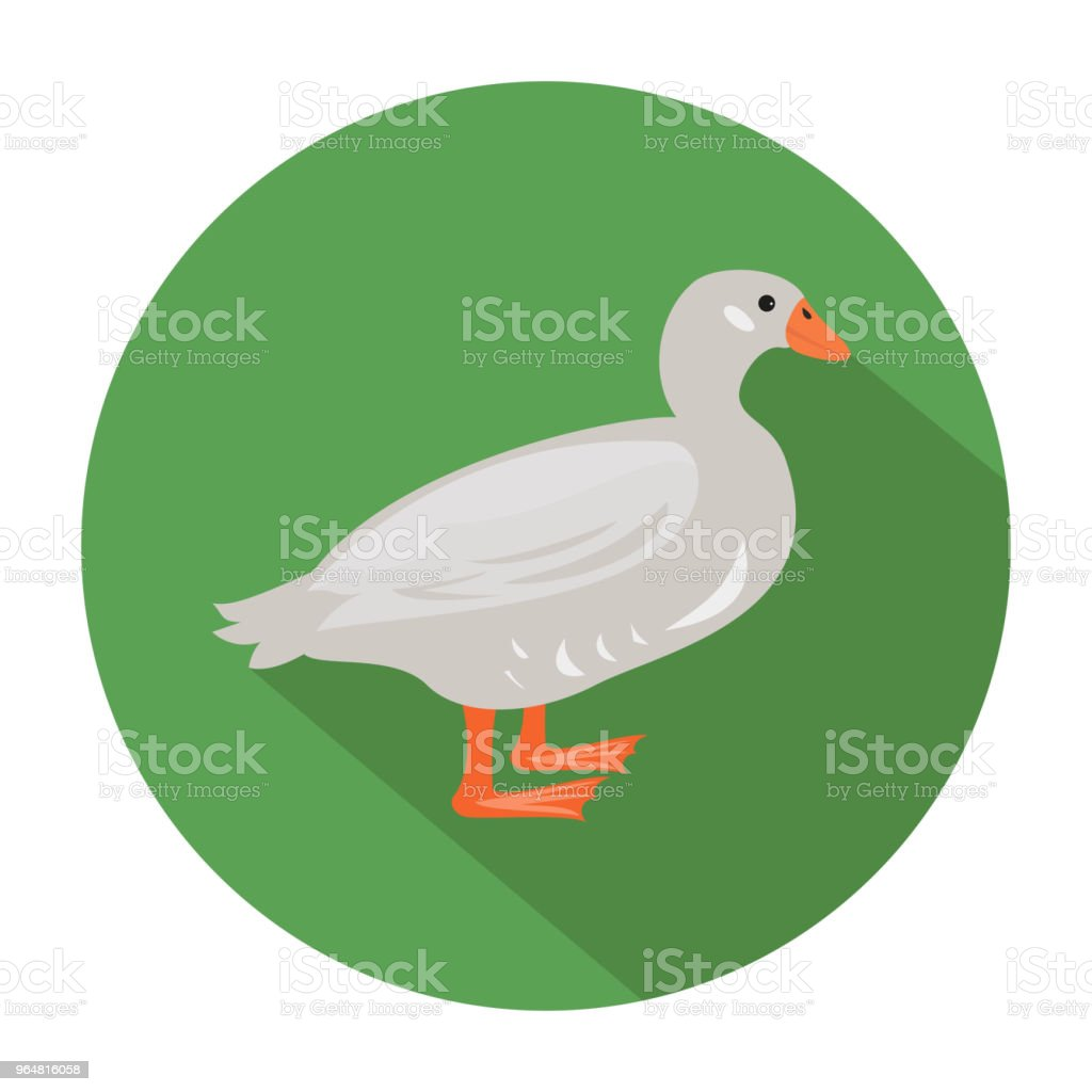 Cute duck on green background. royalty-free cute duck on green background stock vector art & more images of animal