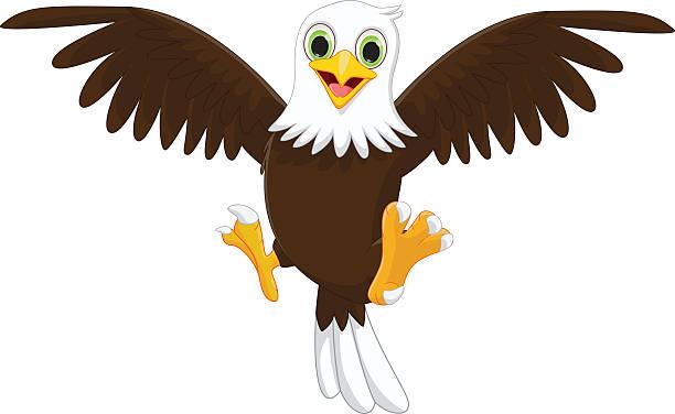 Top 60 Eagle Cartoon Clip Art, Vector Graphics And