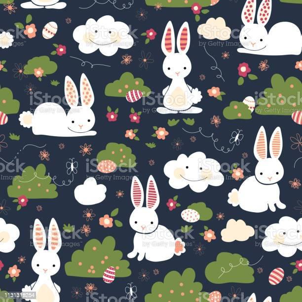 Cute easter bunnies seamless vector kids pattern cute bunny easter vector id1131318254?b=1&k=6&m=1131318254&s=612x612&h=m mvovgipj5lwupx727jy6qpbmfsg8s yslzbni1voe=
