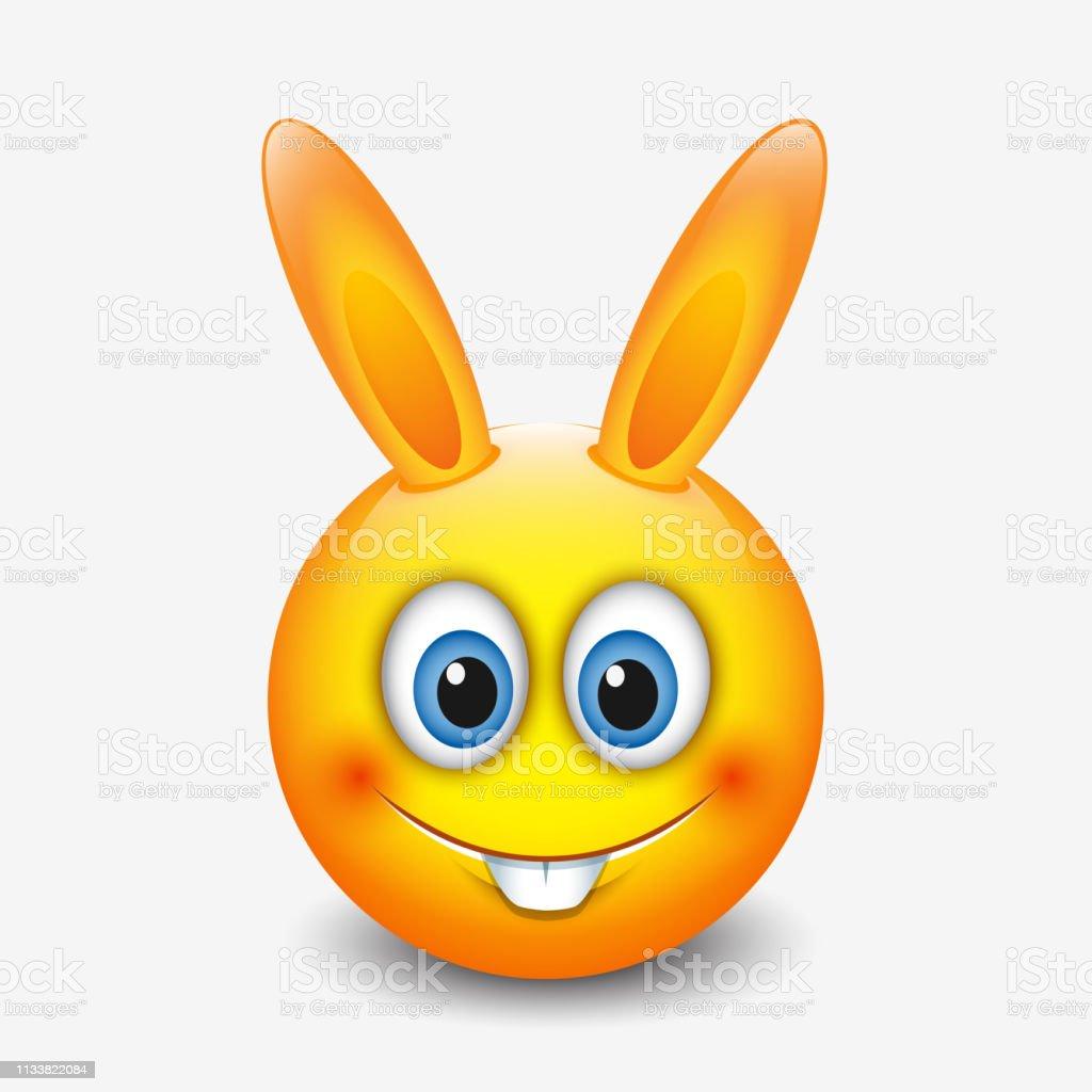 Emoticone De Lapin De Paques Mignon Emojiillustration Vectorielle Vecteurs Libres De Droits Et Plus D Images Vectorielles De Animaux De Compagnie Istock