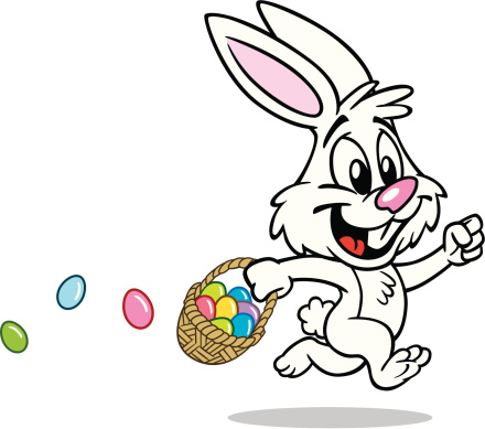 Cute Easter Bunny With Basket