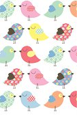Cute chick repeat pattern - ideal for Easter or Birthdays.