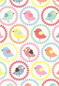 Chick & flower repeat pattern - ideal for Easter or birthdays.