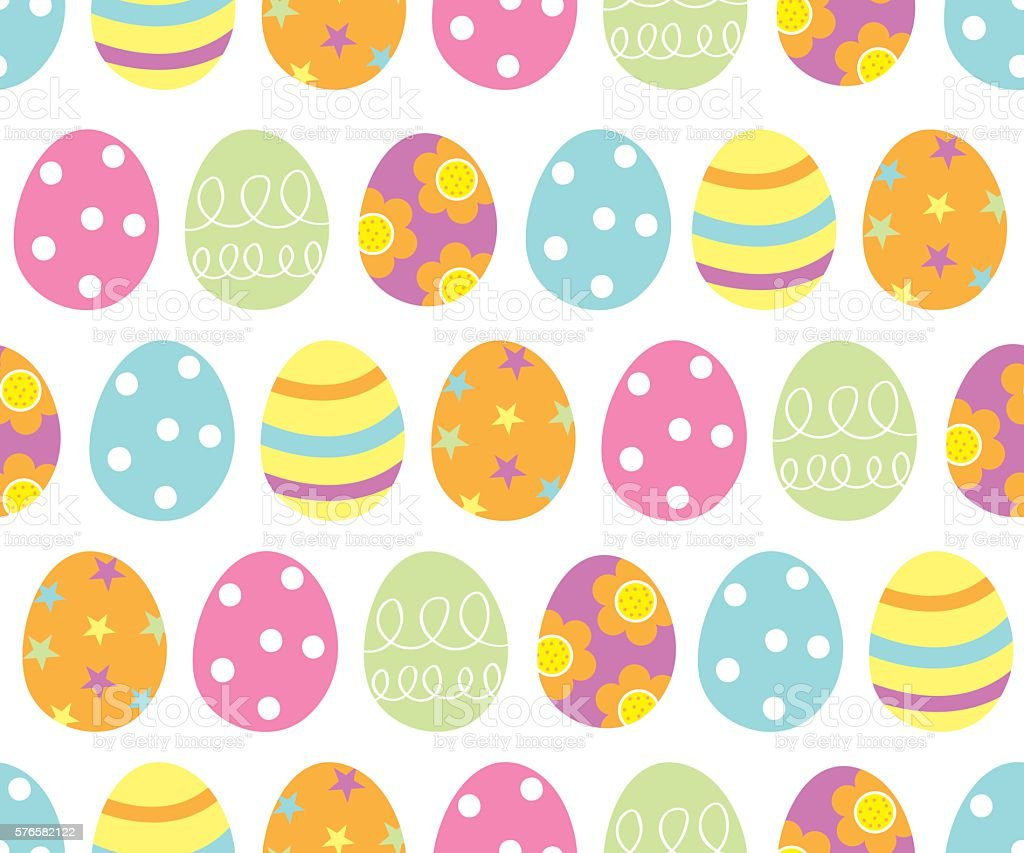 Cute Easter Egg Pattern Stock Vector Art & More Images Of