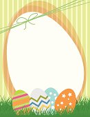 Cute Easter Eggs Illustration Background