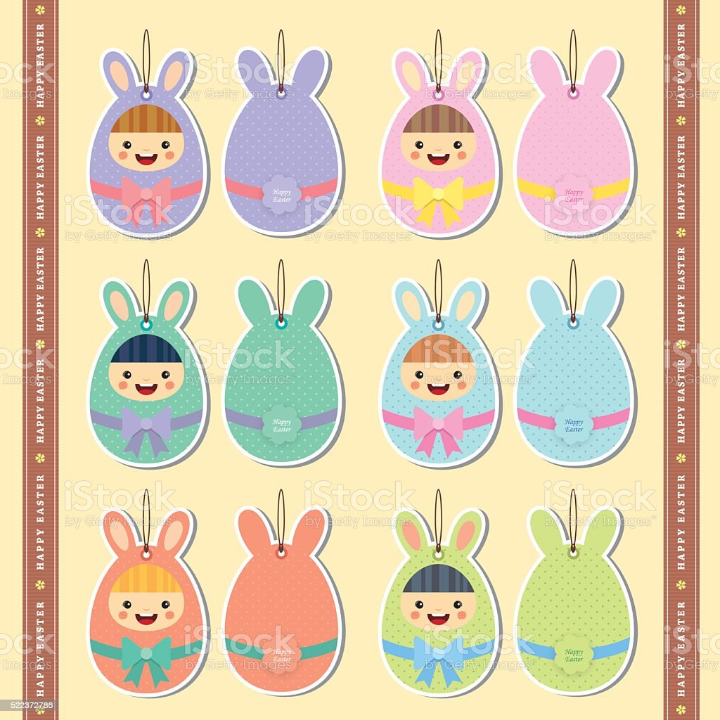 Cute easter gift tag label stock vector art 522372786 istock cute easter gift tag label royalty free stock vector art negle Image collections