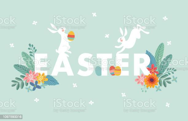 Cute easter web banner with white rabbits colorful easter eggs leaves vector id1097593316?b=1&k=6&m=1097593316&s=612x612&h=d bxgafmuyuktgdge24wmqkjkbih3quodxrh25bi2ia=