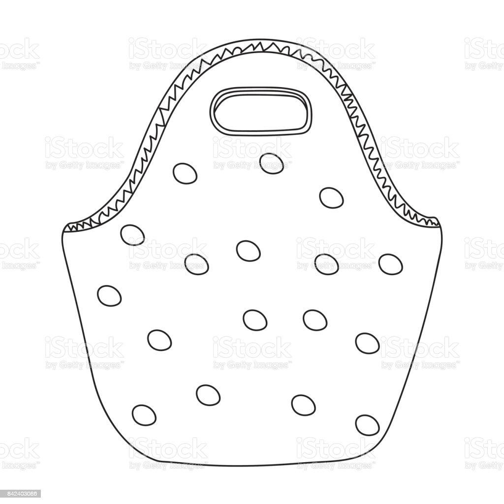 şirin Kolay Polka Dot Yemek çanta Basit Karikatür çizim Nesnesini