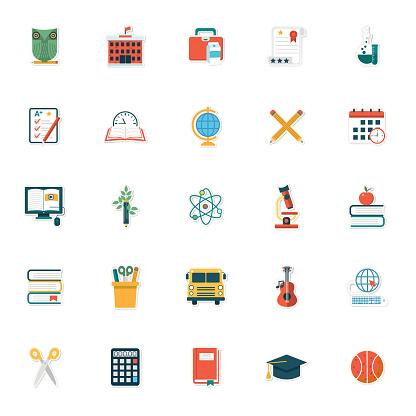 Cute Education Icon Sticker