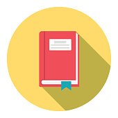 Cute Education Icon - Textbook With Bookmark