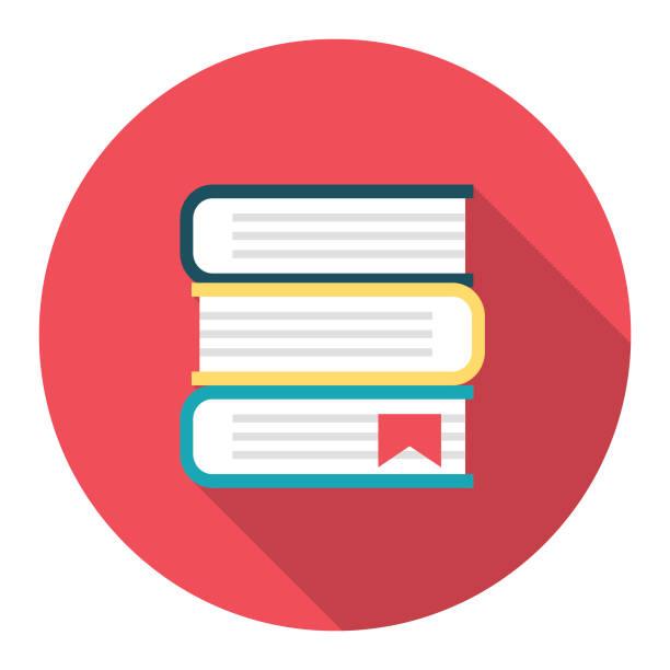 Cute Education Icon - - Textbooks vector art illustration