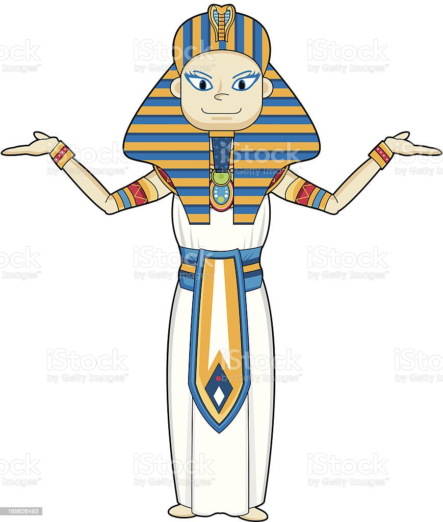 Cute Egyptian Pharaoh King royalty-free cute egyptian pharaoh king stock vector art & more images of adult