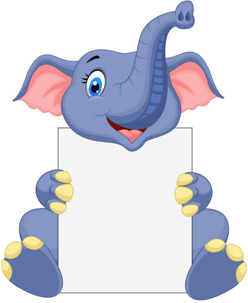 Best African Animals Holding Blank Banners Illustrations ...