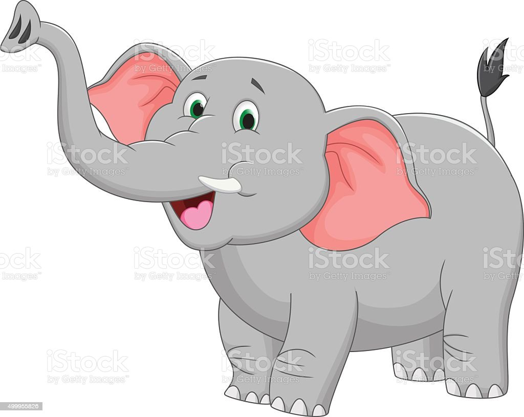 royalty free elephant cartoon clip art vector images rh istockphoto com elephant cartoon pictures cartoon elephant images outline