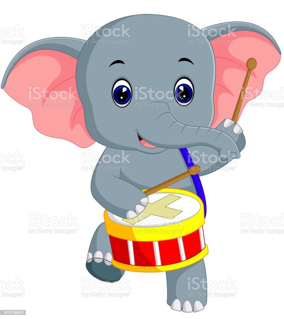 cute elephant cartoon stock vector art 615730940 istock