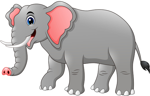 Cute Elephant Cartoon Stock Illustration - Download Image ...