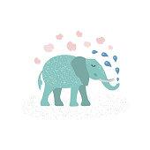 Cute elephant illustration