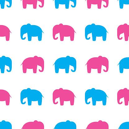 Cute Elephant Pattern 2