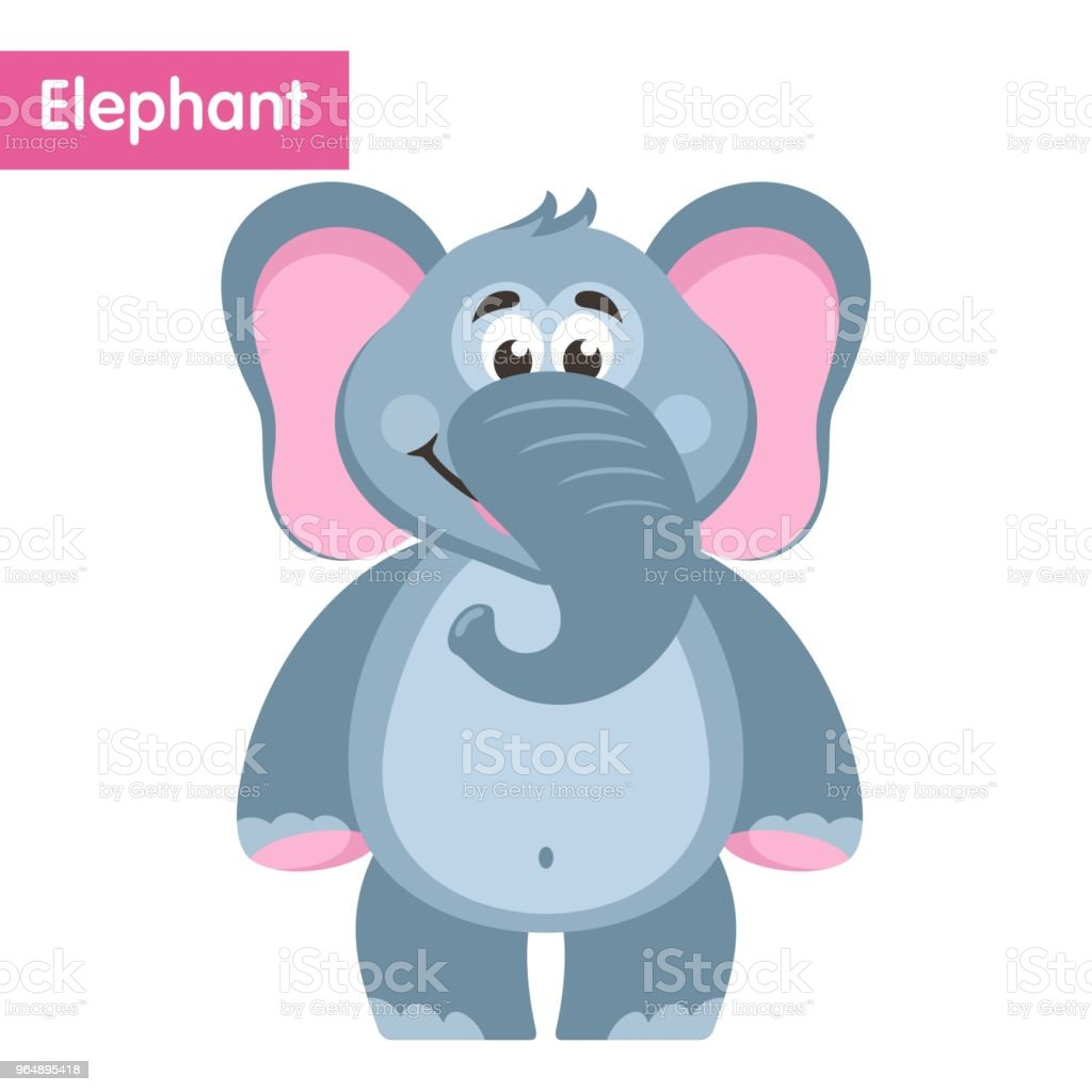Cute elephant. royalty-free cute elephant stock vector art & more images of africa