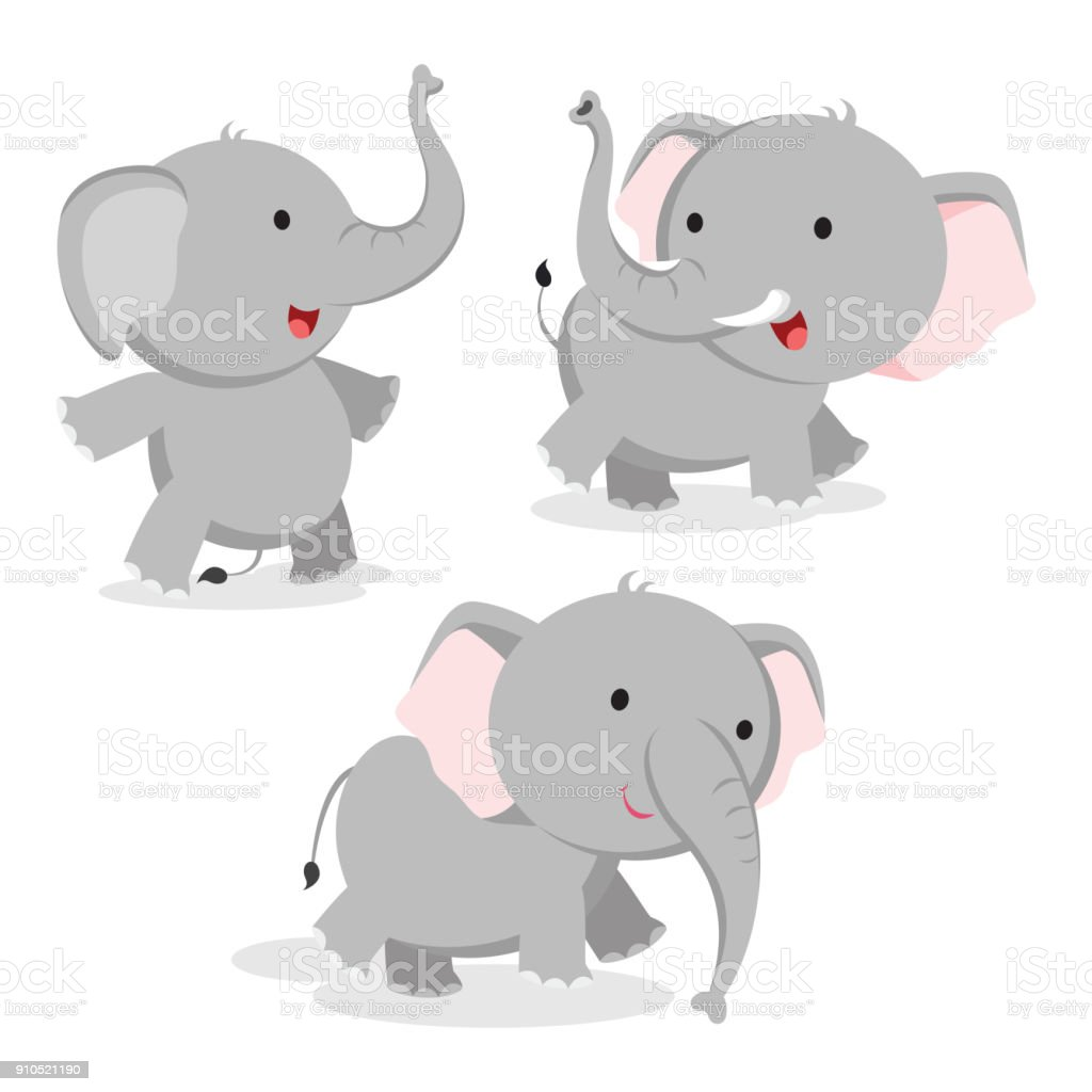 Cute Elephant Vector Stock Vector Art & More Images of ...