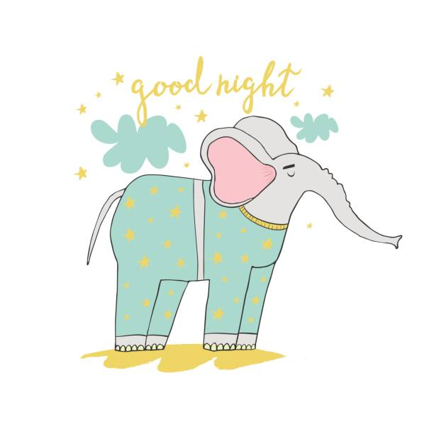 niedliche Elephanten – Vektorgrafik