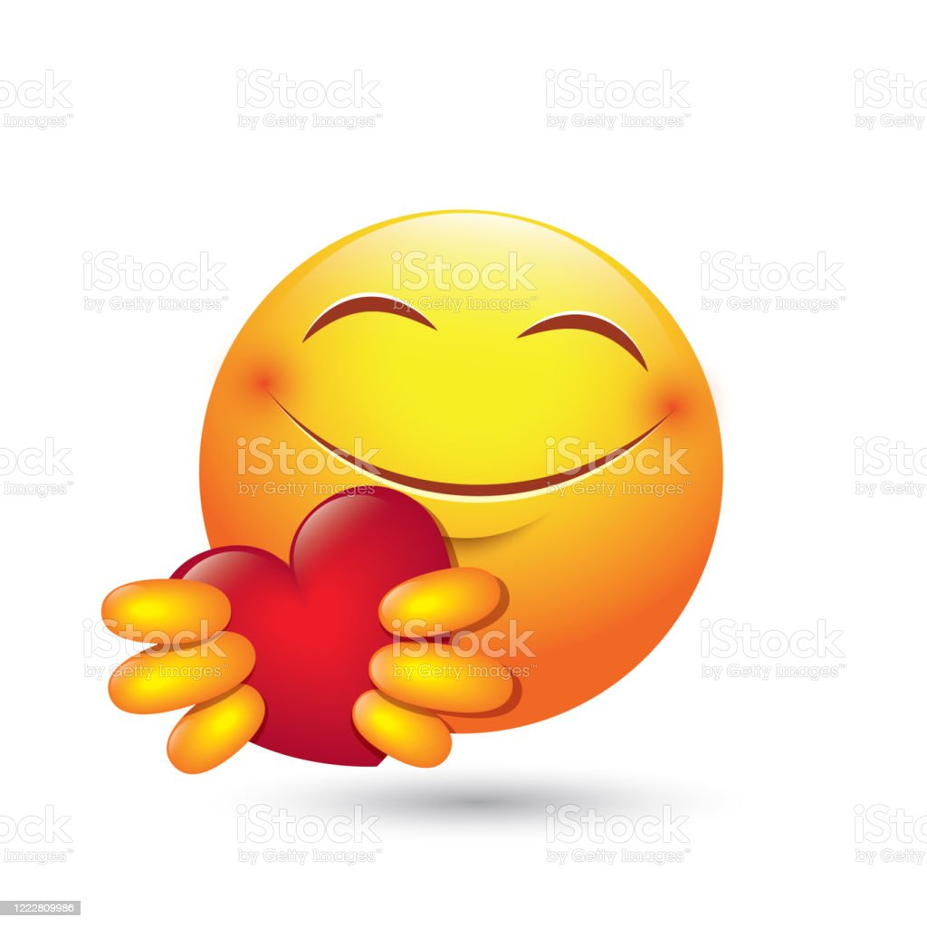 Download Cute Emoji Giving Love Heart Isolated Emoticon Vector ...