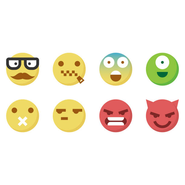 cute emoticons 5 - jealous emoji stock illustrations, clip art, cartoons, & icons