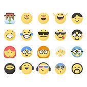 Cute emoticons set 10