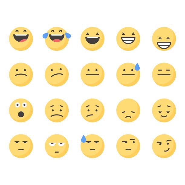 ilustraciones, imágenes clip art, dibujos animados e iconos de stock de emoticonos lindos set 2 - emoji confundido