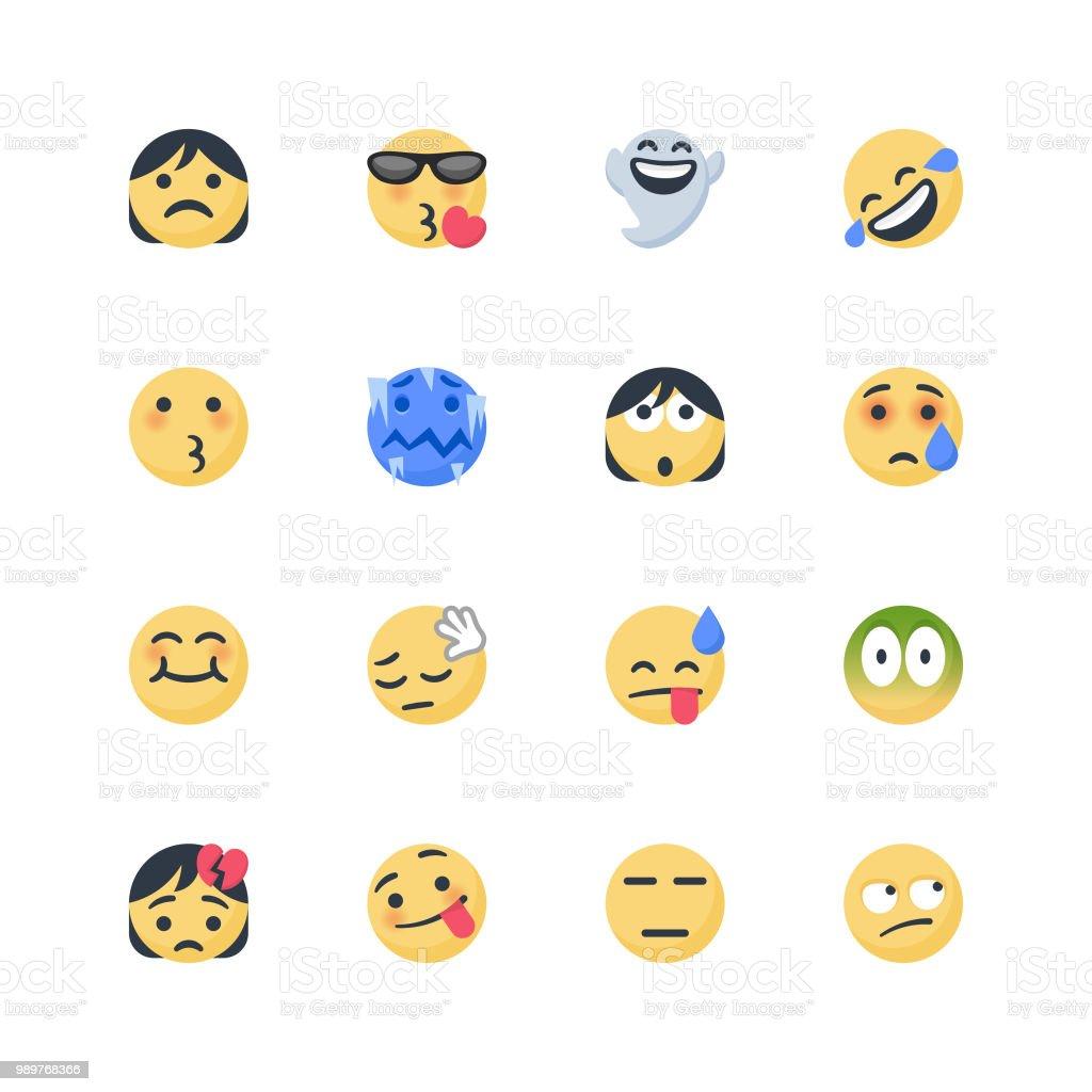 Cute emoticons set vector art illustration
