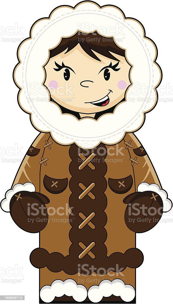 Cute Eskimo Character royalty-free stock vector art