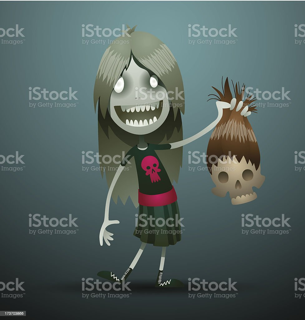 Cute evil girl with a hairy skull royalty-free cute evil girl with a hairy skull stock vector art & more images of adult