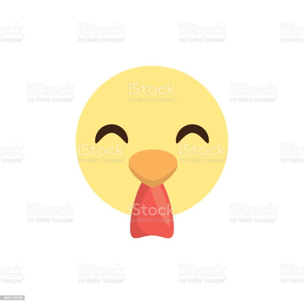 陽気なかわいい顔鶏動物 - まぶしいのベクターアート素材や画像を多数ご