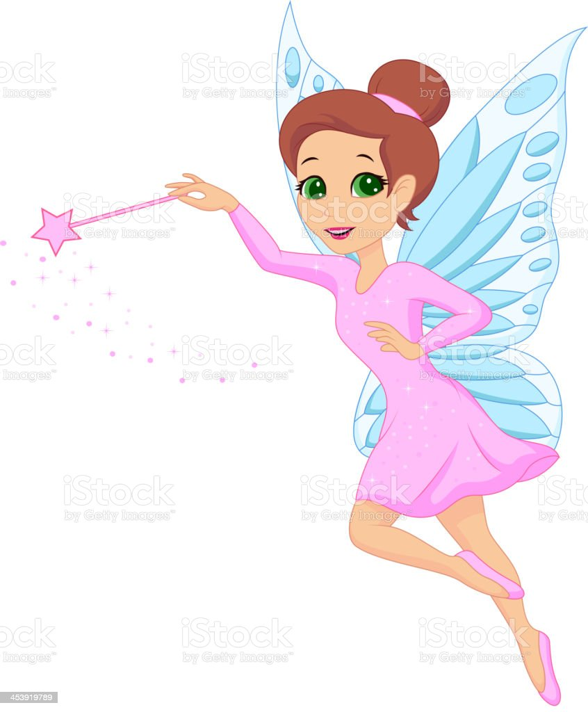 Cute fairy cartoon vector art illustration