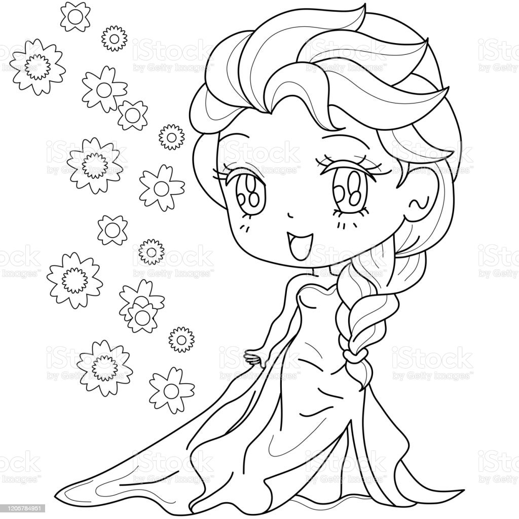 - Cute Fairytale Princess On A White Background For Kids Coloring Book Vector  Illustration Stock Illustration - Download Image Now - IStock